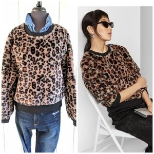 Animal Print crew neck NWT XL